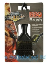 BBQ Brass Bristle Cleaner Brush With Metal Scraper