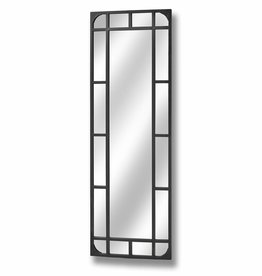 Tall Rectangular Iron Garden Mirror