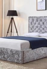 Yasmin Crushed Velvet Ottoman Bed