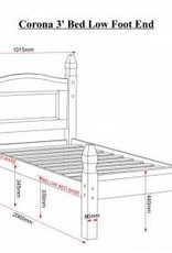 Corona Low Foot End Bed