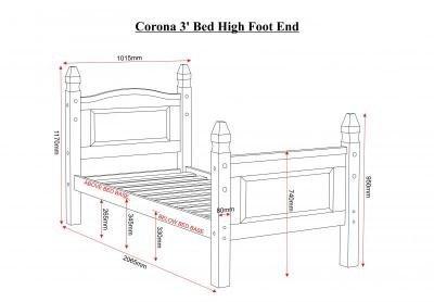 Corona High Foot End Bed