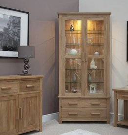 HomestyleGB Opus Oak Glass Display Unit