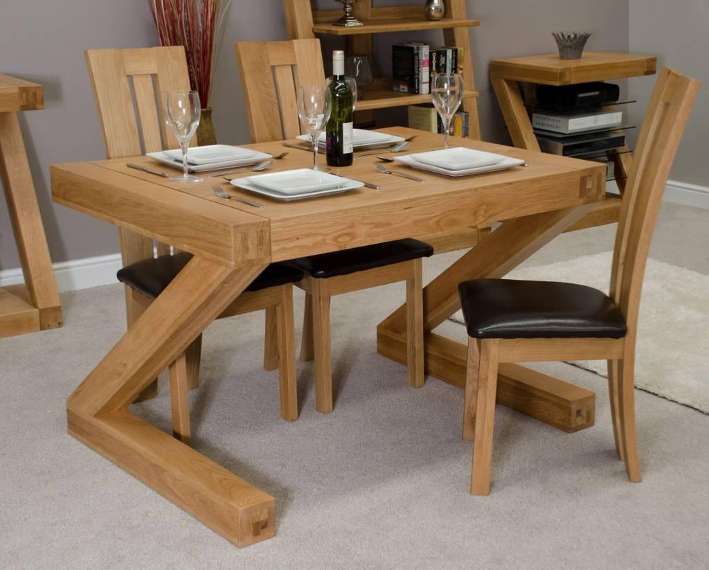 HomestyleGB Z Designer Solid Oak Small Dining Table