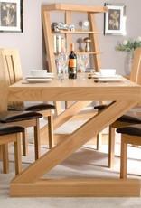 HomestyleGB Z Designer Solid Oak Large Dining Table