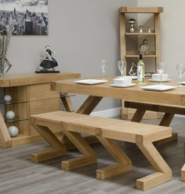 Z  Designer Solid Oak Large Bench
