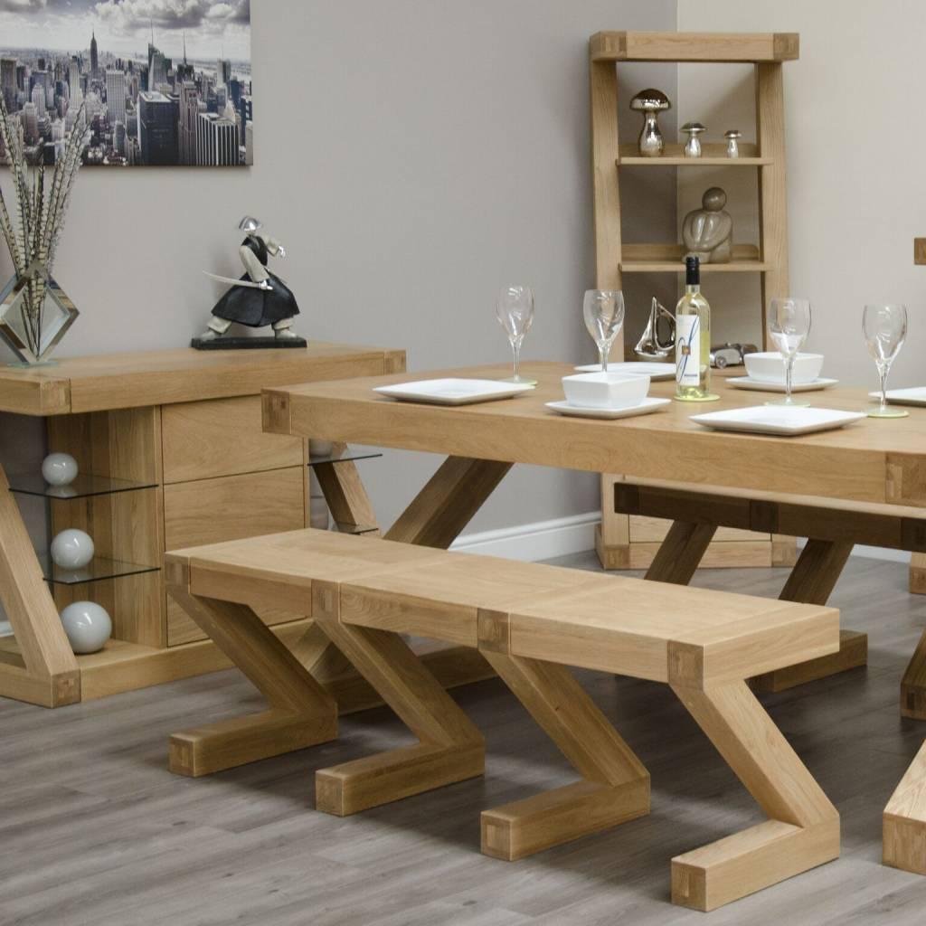 HomestyleGB Z  Designer Solid Oak Large Bench