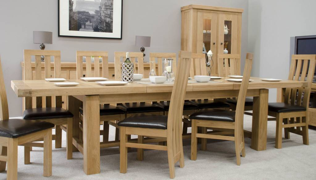 Bordeaux Solid Oak Grand Dining Table