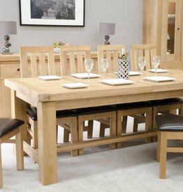 HomestyleGB Bordeaux Solid Oak Grand Dining Table
