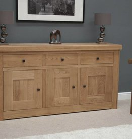 Bordeaux Solid Oak Medium Sideboard