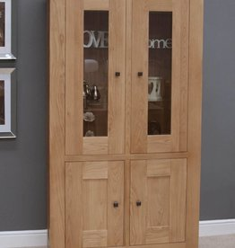 Bordeaux Solid Oak Glazed Display Unit