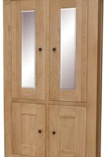 HomestyleGB Bordeaux Solid Oak Glazed Display Unit