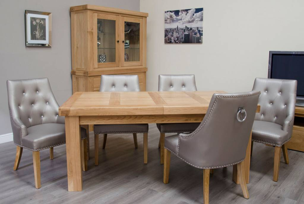 HomestyleGB Bordeaux Solid Oak Large Dining Table