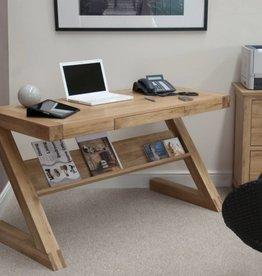 Opus Z Designer Solid Oak Desk With Drawer