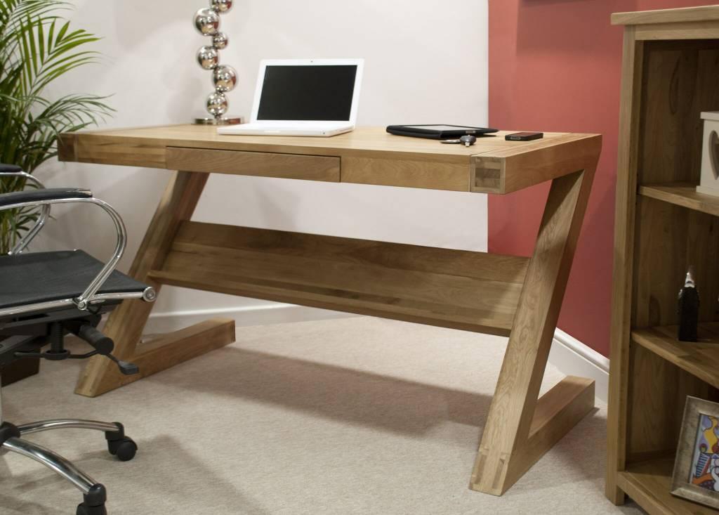 HomestyleGB Opus Z Designer Solid Oak Desk With Drawer