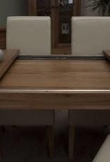 HomestyleGB Rustic  Oak Twin Leaf Dining Table