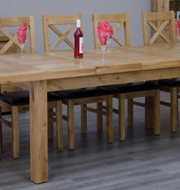 HomestyleGB Deluxe Oak Large Extending Table