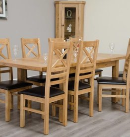 HomestyleGB Deluxe Oak Medium Extending Table