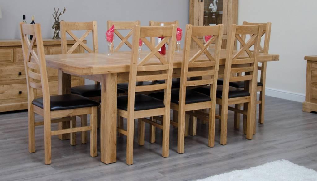 HomestyleGB Deluxe Oak Large Extending Table