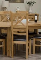 Deluxe Oak Oval Extending Table
