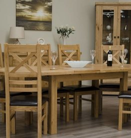 HomestyleGB Deluxe Oak Oval Extending Table