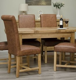 Deluxe Oak Small Butterfly Extending Table