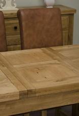 Deluxe Oak Small Butterfly Extending Table