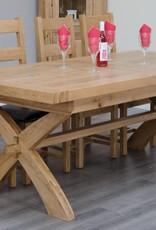 HomestyleGB Deluxe Oak X Leg  Extending Table