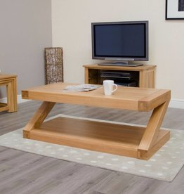 Z Designer Solid Oak Coffee Table