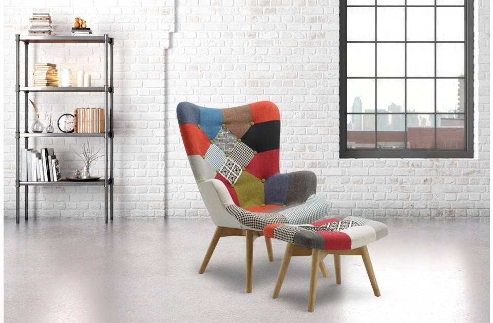 Birlea Sloane Armchair & Stool