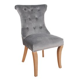 Rochelle Velvet Chair With Knocker