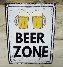 Beer Zone - Metal Sign
