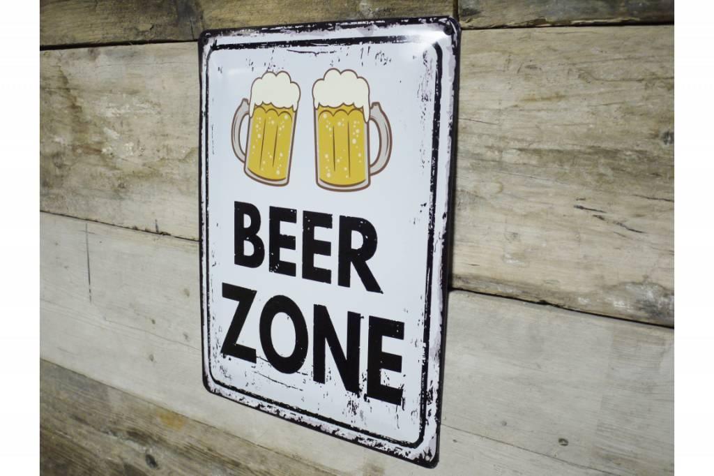 Beer Zone - Metal Sign