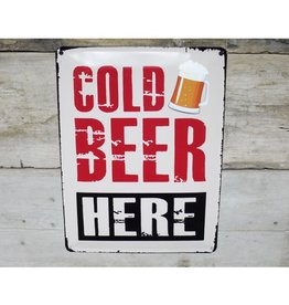 Cold Beer - Metal Sign