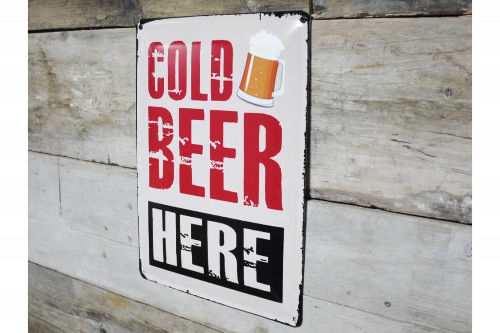 Cold Beer - Metal Sign