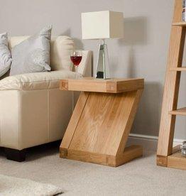 Z Designer Solid Oak Lamp Table
