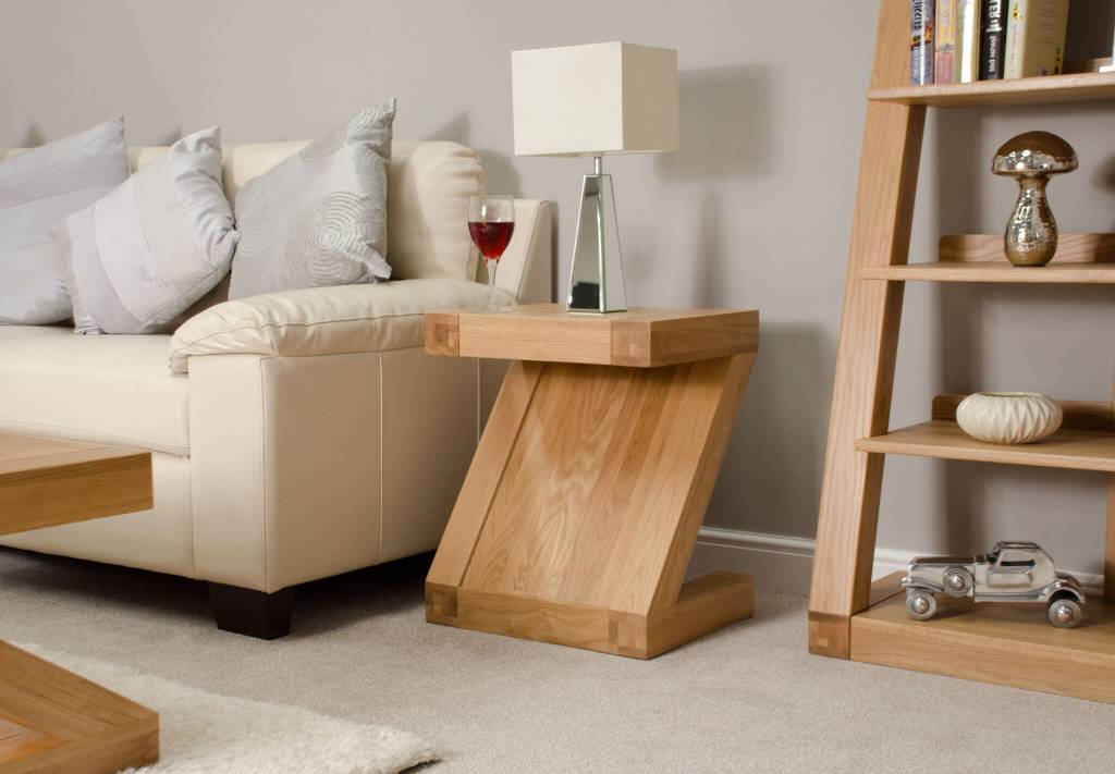 HomestyleGB Z Designer Solid Oak Lamp Table