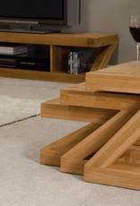 HomestyleGB Z  Designer Solid Oak Nest of Tables