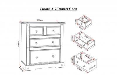 Corona 2 + 2 Drawer Chest