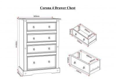 Corona 4 Drawer Chest