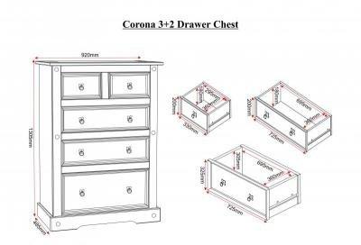 Corona 3 + 2 Drawer Chest
