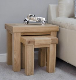 Bordeaux Solid Oak Nest of Tables