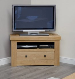 Bordeaux Solid Oak Corner TV Unit