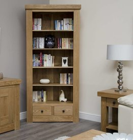 Bordeaux Solid Oak Large Bookcase