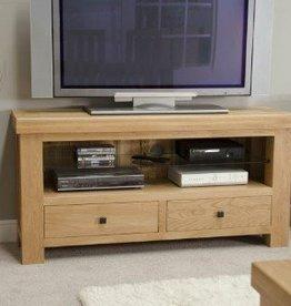HomestyleGB Bordeaux Solid Oak TV/Plasma Unit