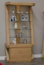 HomestyleGB Z Designer Solid Oak  Glass Display Unit