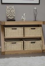 HomestyleGB Z Designer Solid Oak Basket Console Table