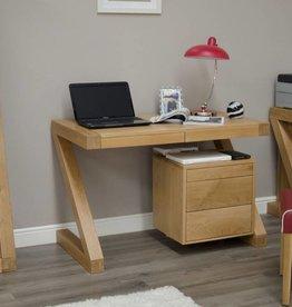 Z Designer Solid Oak Small Desk
