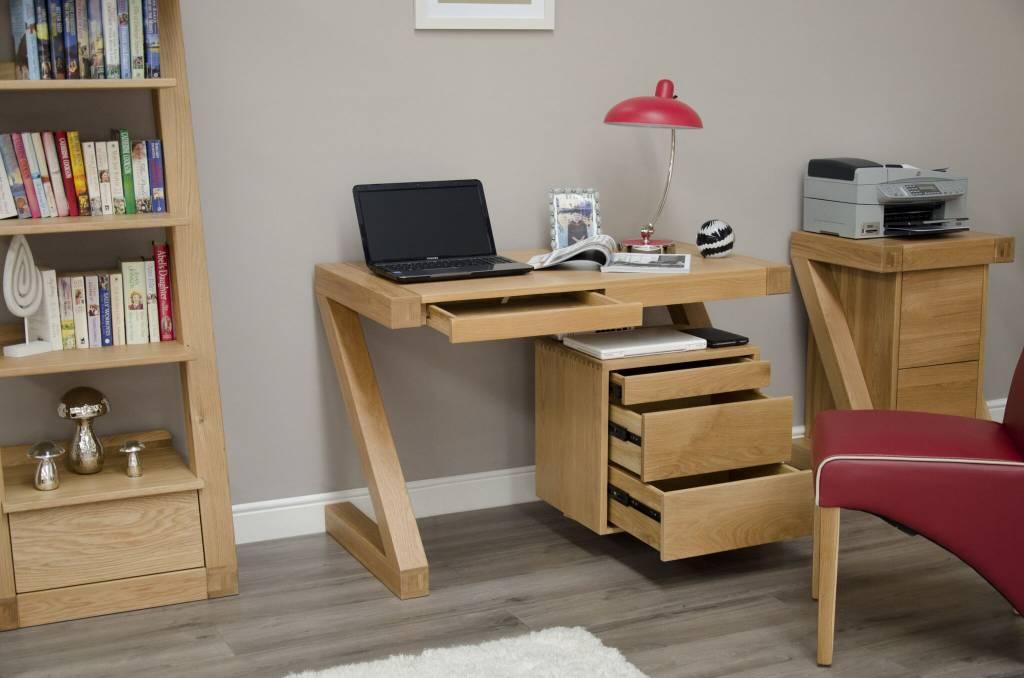HomestyleGB Z Designer Solid Oak Small Desk