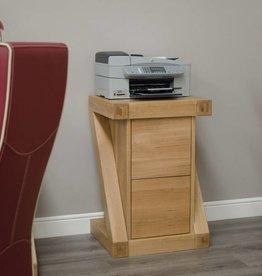 Z Designer Solid Oak Filing Cabinet