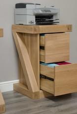 HomestyleGB Z Designer Solid Oak Filing Cabinet